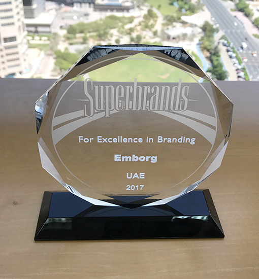 Emborg UAE receives superbrand award for the seventh time